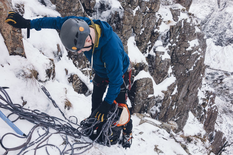 Adult Adults Only Adventure Beauty In Nature Challenge Climbing Cold Temperature Danger Extreme Fitness Glencoe Helmet Ice Ice Climbing Mountain Mountaineering Mountains Nature Outdoors Rock Rope Scotland Snow Warm Clothing Winter