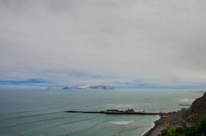 Cloud - Sky Coastline Horizon Over Water Inca Lima Pacific Ocean Peru Scenics Sea South America Miraflores Barranco Barranco Lima Miraflores Lima