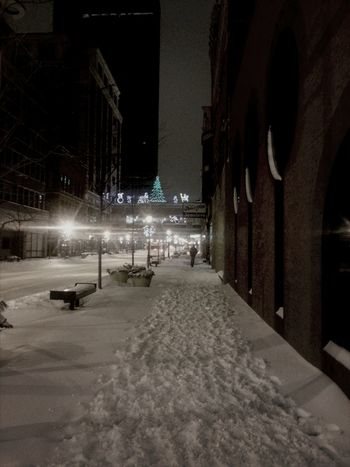 Snow Night Photography Cityscapes From My Point Of View