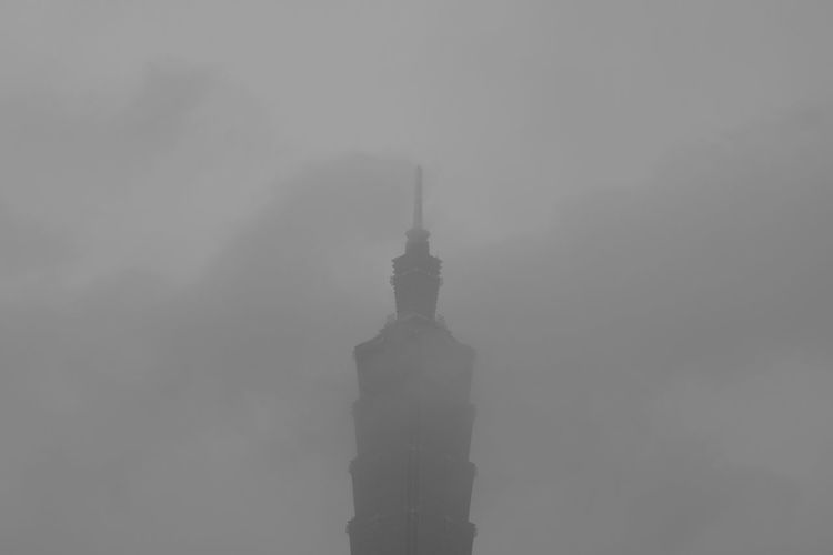 Skyscraper Taipei 101 Fog Architecture Weather Travel Destinations No People Building Exterior Outdoors Built Structure Urban Skyline Sky Day City