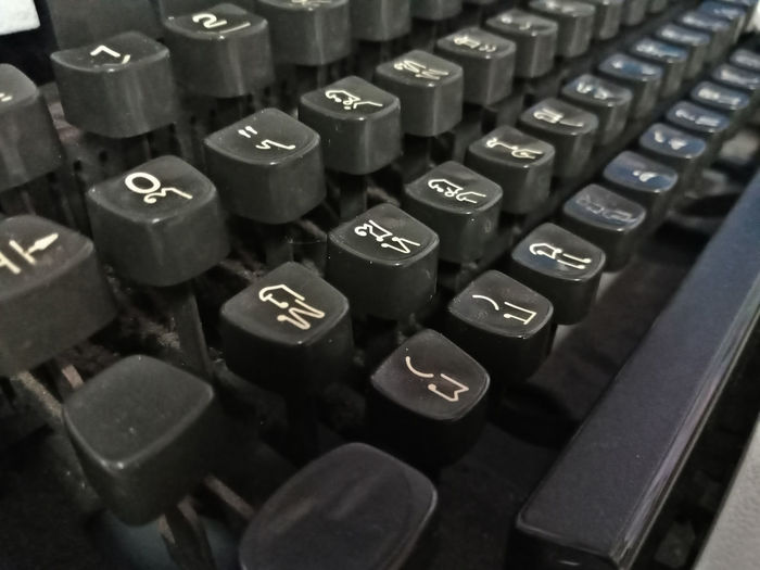 Thai Thailand Alphabet Antique Backgrounds Close-up Communication Computer Key Day High Angle View Indoor Indoors  Keyboard Language No People Number Old-fashioned Retro Styled Technology Text Typewriter