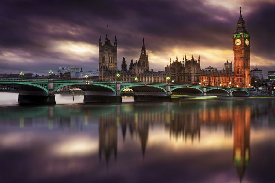 Architecture Big Ben Bridge - Man Made Structure Building Exterior Built Structure City Clock Tower Cloud - Sky Connection Government Illuminated London Night No People Outdoors Reflection River Sky Tower Travel Destinations Urban Skyline Water Waterfront