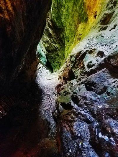 GeorgianGoldMine hiking thru thru the GoldMine in Georgia CordsOfGold RockedIn Earthed Unearthed HardHats IStruckGold FirstAndOnlyGoldMine Beauty In Nature Outdoors Scenics Remote Non-urban Scene FacedInRock Rockface