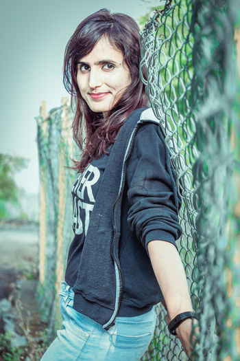 Beautiful Woman Beauty Casual Clothing Day Focus On Foreground Hair Hairstyle Leisure Activity Lifestyles Long Hair Looking At Camera One Person Outdoors Portrait Real People Scarf Smiling Standing Three Quarter Length Waist Up Young Adult Young Women The Traveler - 2018 EyeEm Awards The Portraitist - 2018 EyeEm Awards The Fashion Photographer - 2018 EyeEm Awards