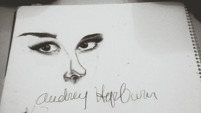 Audrey Hepburn Drawing Project Black And White