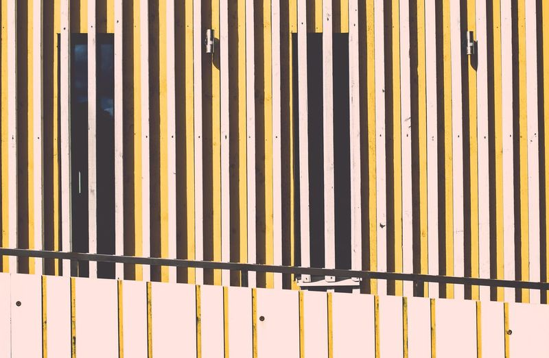 EyeEmNewHere EyeEm Selects Pattern Backgrounds Full Frame Metal No People Striped Architecture Day Wall - Building Feature Textured  Fence