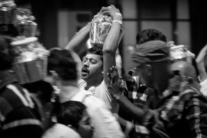 Thaipusam Blackandwhite Close-up Crowd Festival Hindu Hinduism Person Singapore Thaipusam
