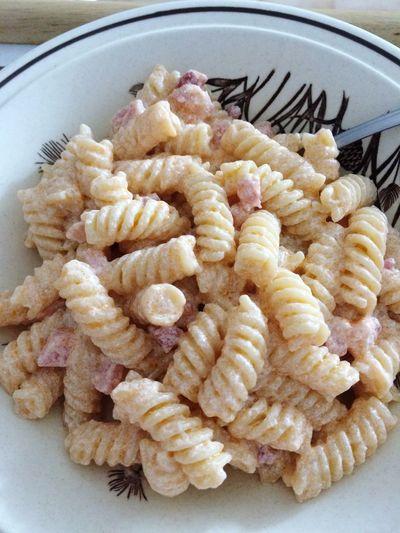 Ricotta e pancetta 😋 Fusilli Pasta Ricotta Pancetta