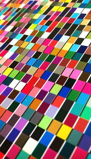 Full frame shot of multi colored tiled floor