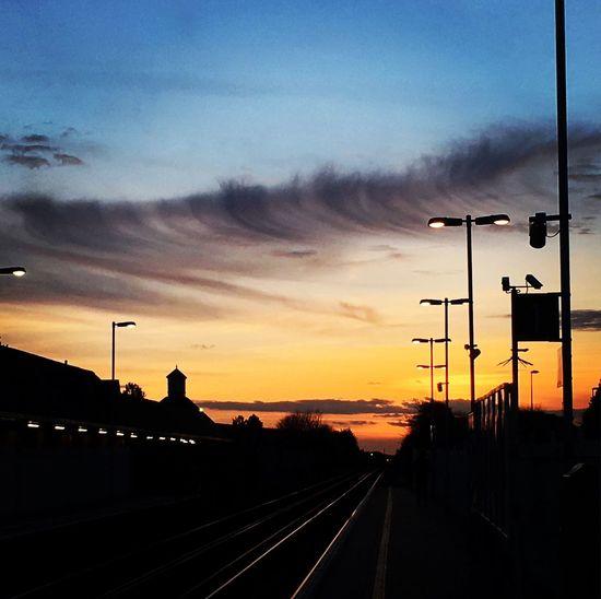 Transportation Sunset Sky Rail Transportation Railroad Track Cloud - Sky Outdoors Public Transportation England🇬🇧 Lancing  Streetphotography