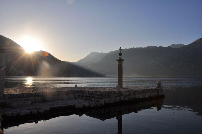 Gospa Od Škrpjela Our Lady Of The Rocks Montenegro Kotor Sunset