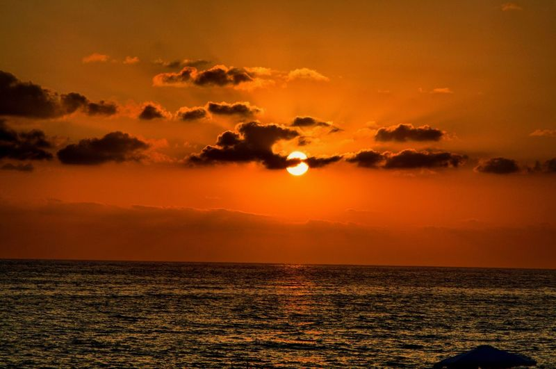 Sunset Sun Horizon Over Water Seascape Majestic Life Beauty In Nature Orange Color Tranquility First Eyeem Photo