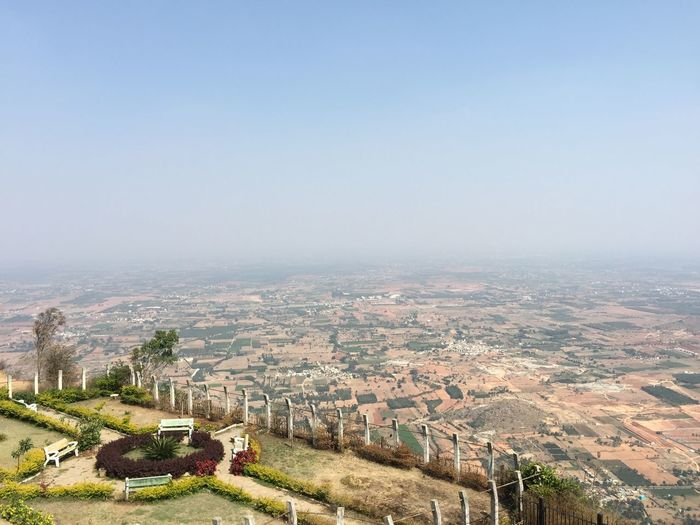 Modernization that affects the Mother Nature High Angle View Outdoors Landscape Development Nature Bangalore Hillview