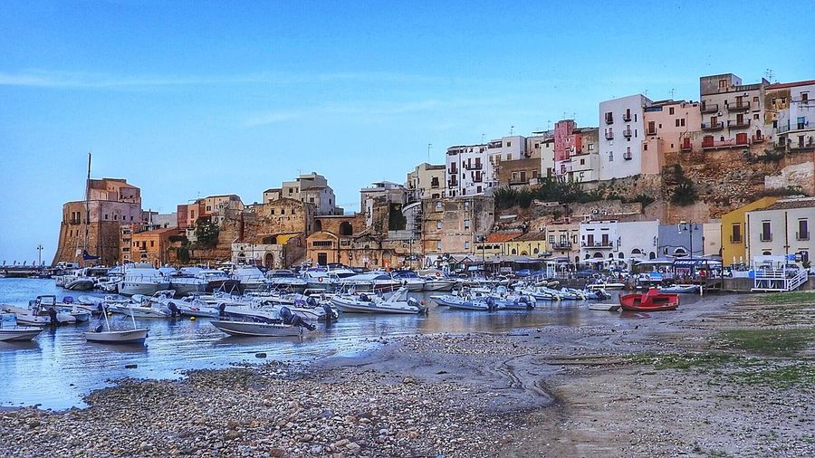 Yacht Harbour at Castellamare del Golfo, Sicily, Italy Harbour Yacht Harbor Yacht Sailing Sailboat Castellamare Del Golfo Sicily Boat Boats Maritime Cityscapes Coastline House Houses Town Seaside Colors Traveling Resort