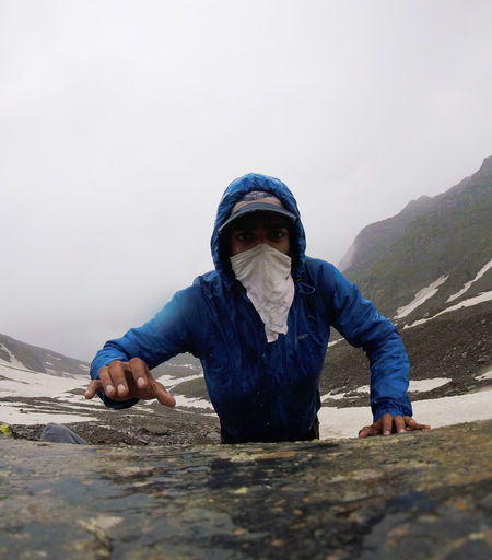 Front View Gopro Mask Mountain One Person Outdoors Reaching Camera Seeking The Week On Eyem EyeEmNewHere Go Higher