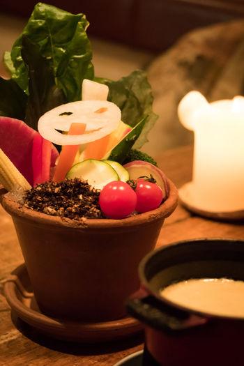 Bagna Cauda Food Food And Drink Freshness Indoors  Night Table Tea Light