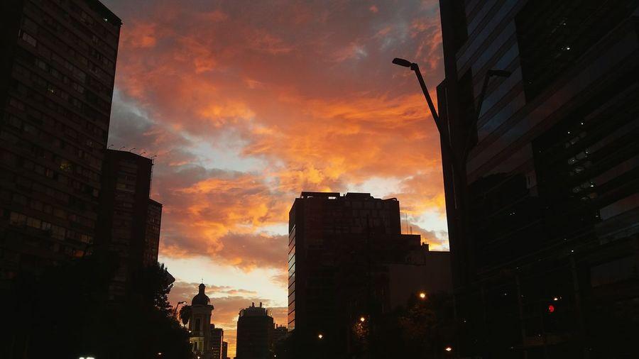 Sunset Downtown District Natural Phenomenon