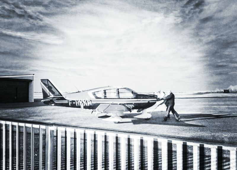 Plane Silhouette And Sky Outdoors Airport Pilot On The Way Monochrome
