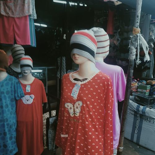 Midsection of store for sale at market