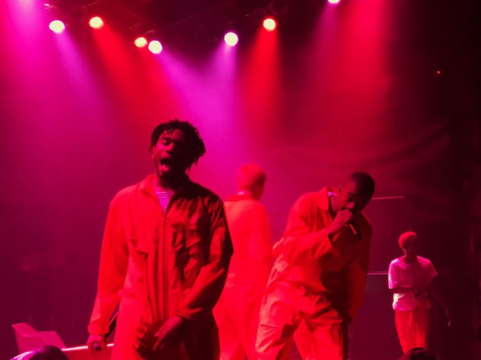Brockhampton Dom Joba Amir Merlyn Brockhampton Arts Culture And Entertainment Waist Up Nightlife Music Performance Nightclub Young Adult Stage - Performance Space