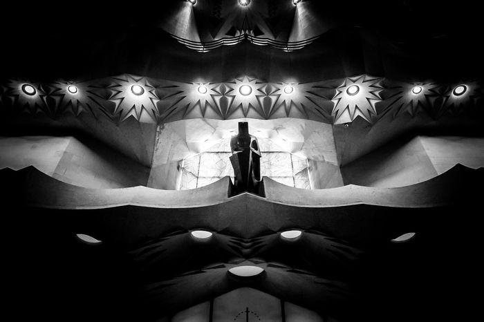 Architectural Column Architectural Detail Architectural Feature Architecture Architecture_collection Awesome Architecture Barcelona Barcelona, Spain Barcelonalove Close-up Epic Gaudi Illuminated Indoors  Modernism Mood Sagrada Familia Stunning The Architect - 2017 EyeEm Awards Watcher Worship Black And White Friday