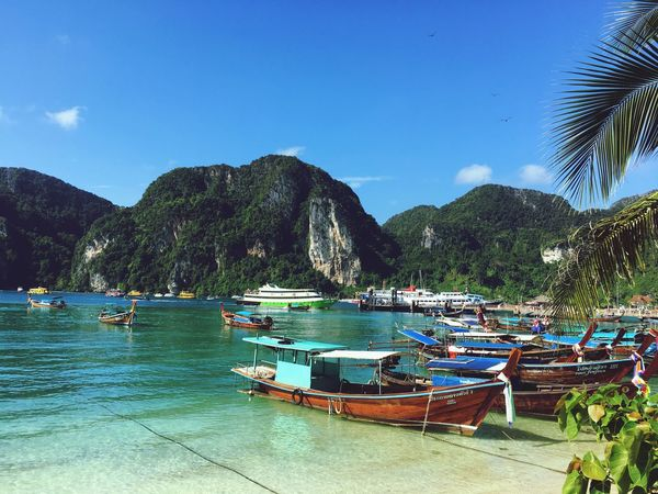 Thailand - Koh Phi Phi Thailand KohPhiPhi, Thailand Mountain Beauty In Nature Nature Travel Journey Ocean Sea Blue Tranquility Tranquil Scene Travel Destinations Boat