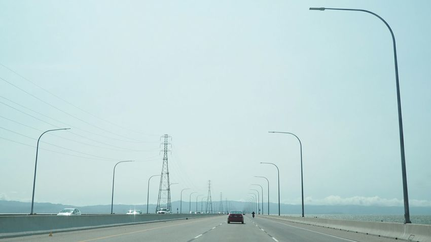 Ontheroad Roadtrip Hello World Drivebyphotography Crossing The Bridge San Mateo Bridge Landscape Enjoying Life Transportation
