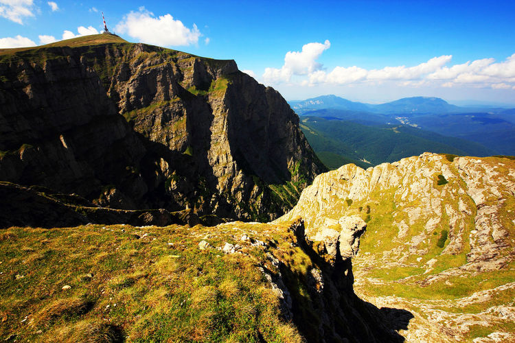 Scenic view of mountains at bucegi natural park