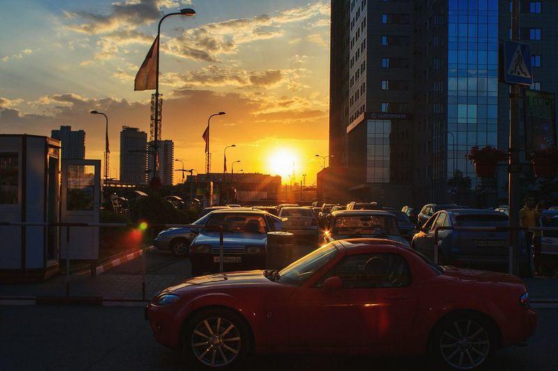 City Sky Day City VolgogradCity Car Sun Sunset Russia