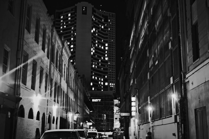 The City Sitram Photo's City Lights New Orleans City Life City Streetphotography Buildings City Streets  Downtown I Love My City Monochrome Photography