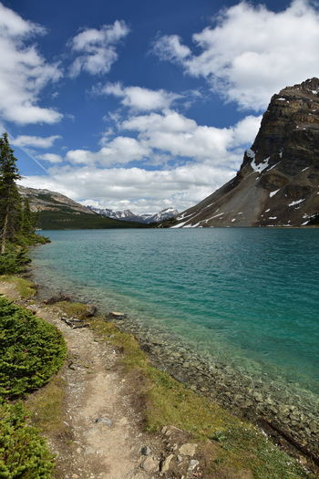 Bow Lake National Park Lake Blue Hiking Trail The Great Outdoors - 2018 EyeEm Awards Rocky Mountains Dramatic Landscape Physical Geography Rock Formation