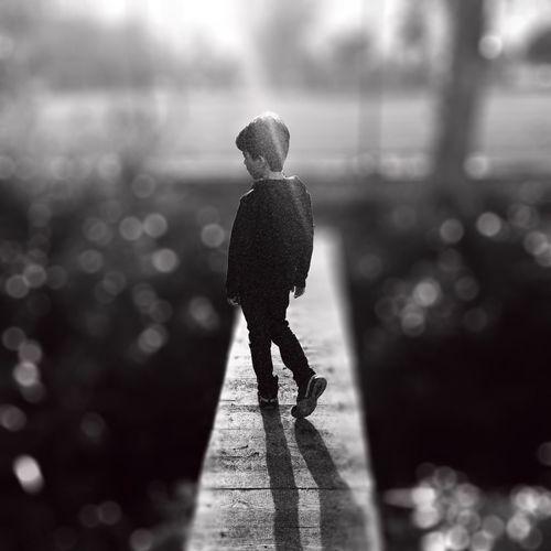 THE CHOICE Childhood Blackandwhite Silhouette Bokeh
