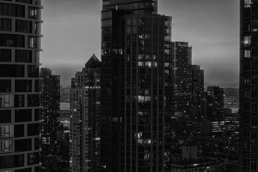 Building Exterior Building Architecture Built Structure Cityscape Office Building Exterior Sky Modern Skyscraper Residential District Office Illuminated Urban Skyline Outdoors City Tall - High Apartment Nature Financial District  No People Night Tower Blackandwhite