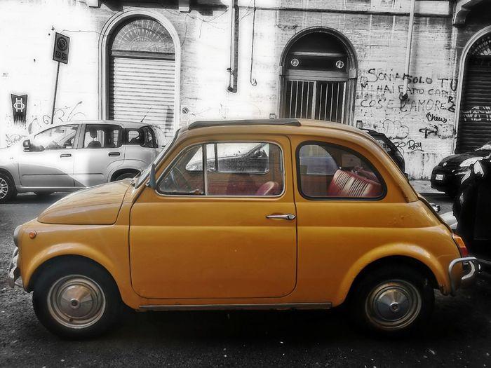 Yellow Car Old