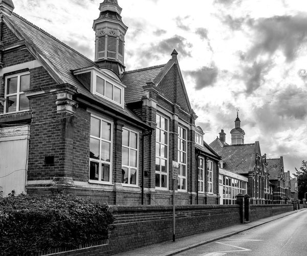 Newport Pagnell Board School, Newport Pagnell , Buckinghamshire Architecture Black And White Newport Pagnell Monochrome Buckinghamshire School Schools