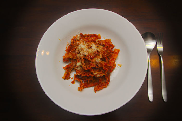 Noodles Spaghetti Bolognese Bolognesesauce Food Italian Food Plate Spoon And Fork Food Stories