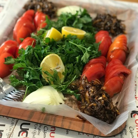 Mide Bayramı Arefesi Meze Söğüş Salata Ciger Food Food And Drink Freshness Healthy Eating Wellbeing Vegetable Ready-to-eat