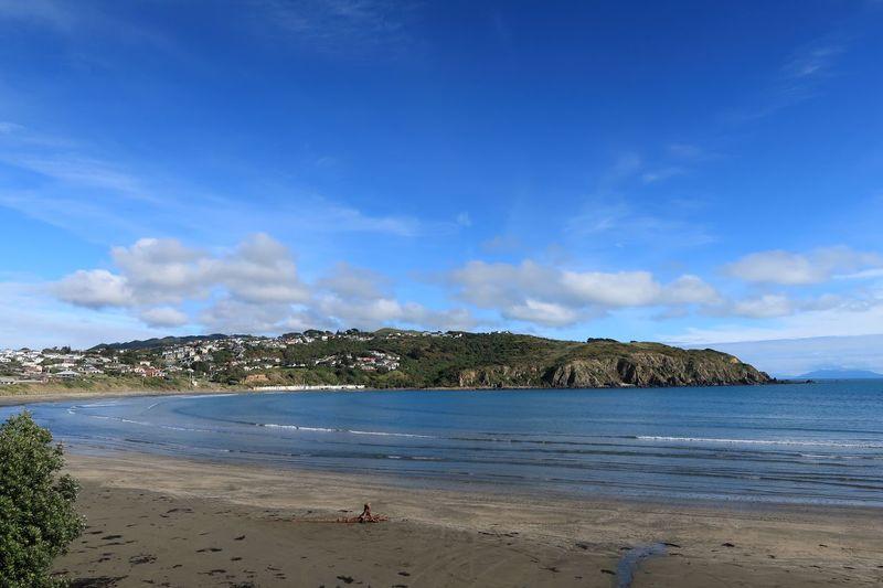 Titahi Bay, Wellington, New Zealand Nature Blue Sky New Zealand Scenery Outdoors Ocean Landscape Beach