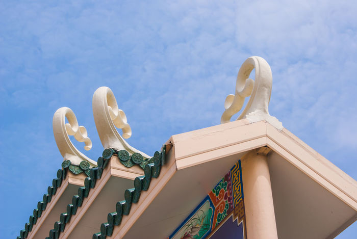 Architecture Chinese Culture Chinese Roof Chinese Rooftop Chinese Style Chinese Temple City Cloud - Sky Day Low Angle View Outdoors Roof Rooftop Sky Temple Tile Travel