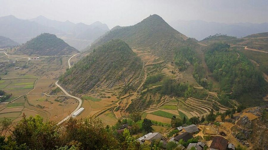 Hà Giang On The Road Tourist_spot Mountain View Vietnam Scenery Shots Landscape Nature_collection Supernormal Travelling