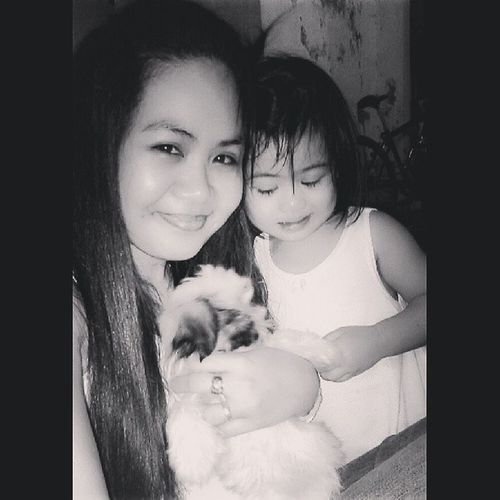 home now with my girls.. :) Mother & Daughter ♥
