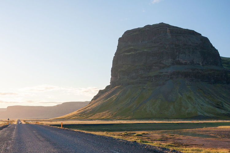Love EyeEmNewHere Iceland Travel Clear Sky Journey Landscape Mountain Mountain Road No People Road Scenics Sunset Travel Destinations Roadtrip Road Trip EyeEm Selects The Week On EyeEm An Eye For Travel It's About The Journey