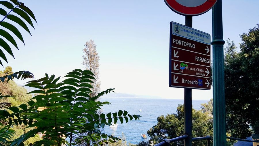 Portofino signs Portofino Portofino Italy Portofino Natural Regional Park Liguria Water Road Sign Sea Tree Guidance Communication Text Clear Sky Sky One Way Arrow Symbol Street Name Sign Exit Sign Signboard Palm Tree Information Sign Information Direction Information Symbol Emergency Exit Directional Sign Arrow Shore Traffic Arrow Sign Arrow Sign Weather Vane