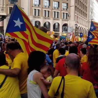 Els catalans del futur també eren avui a la Plaça Catalunya! AraEsLHora