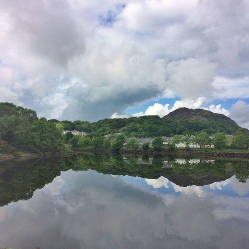 Porthmadog Moel Y Gest Llyn Bach Ynys Tywyn Snowdonia North Wales National Park Lake Reflections