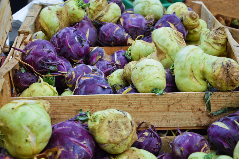 Cabbage Kohlrabi No People France Lyon Croixrousse Common Beet Market Vegetable Raw Food Purple Vegetarian Food Organic Close-up Food And Drink Farmer Market