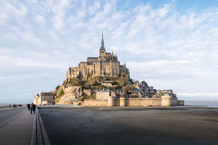 View of the mont saint-michel, france