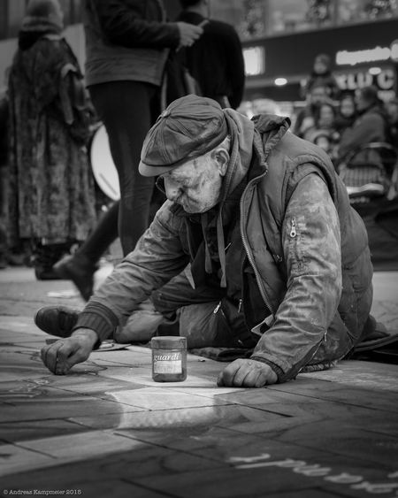 Street Artist painting a nice picture Streetphotography Streetart Streetphoto_bw Streetpainter Social Issues Senior Adult Street Outdoors Men People Adult EyeEmNewHere EyeEmNewHere