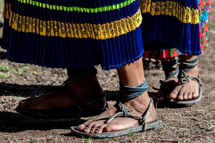Colors Huarache Mexican Dancers Mexico Raramuri Raramuri Tarahumara Runners Sandals Sierra Tarahumara Chihuahua Dancing Feet Human Foot Traditional Clothing Traditional Dancing