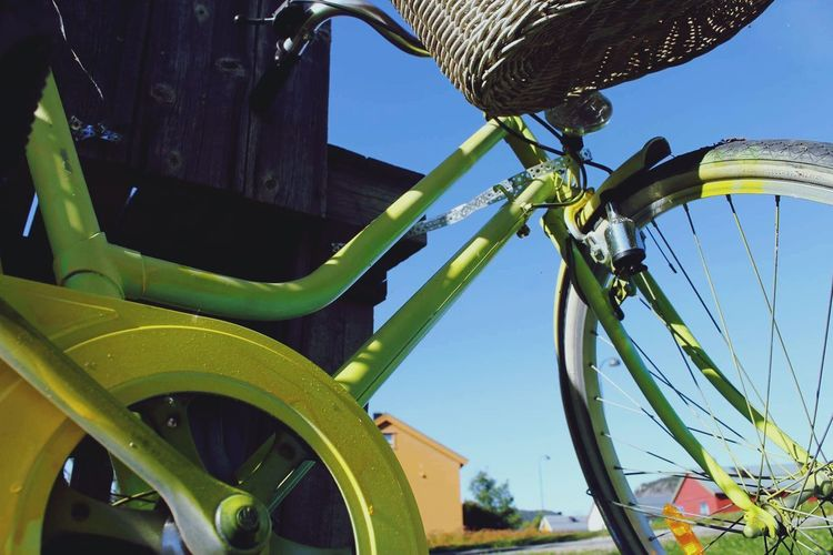 Colors Bicycle Green Color Low Angle View Sky Summer Cool_capture_ Taking Photos Sunshine Sun Canon Day Outdoors
